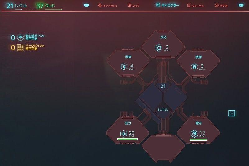ハッキングビルドの完成ステータス